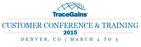 2015 TraceGains Customer Conference and Training_Logo