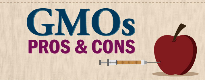 Pros and Cons to GMO Labeling with apple being injected