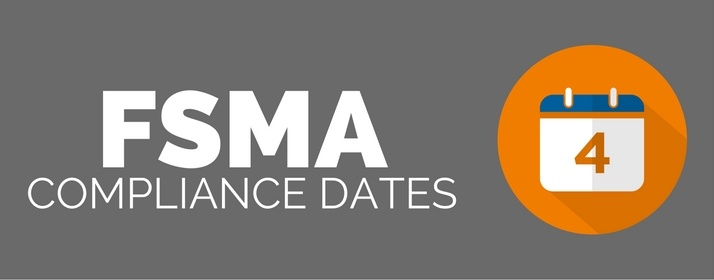 What are the FSMA compliance dates?