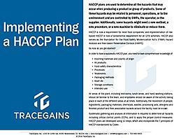 Implementing HACCP for GFSI
