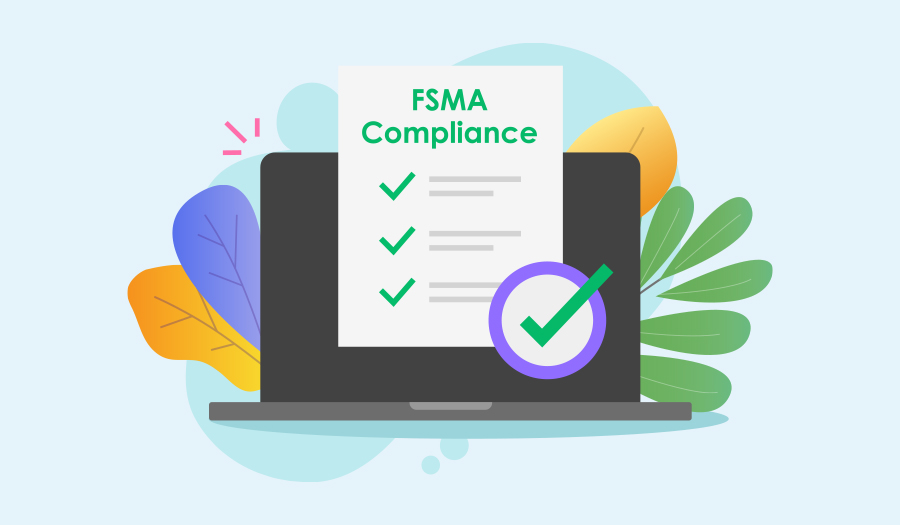 Laptop with FSMA compliance checklist
