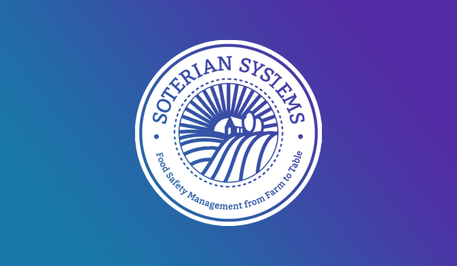 Soterian Systems logo on a gradient background