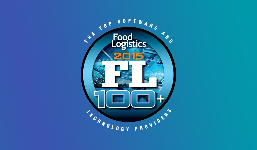 Food Logistics Top Software and Technology Providers 2015 logo on gradient background