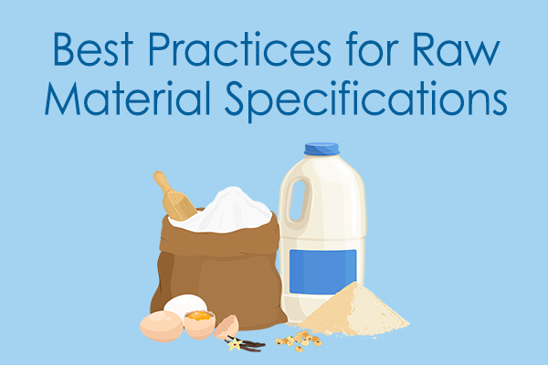 Best Practices for Raw Material Specifications Fact Sheet